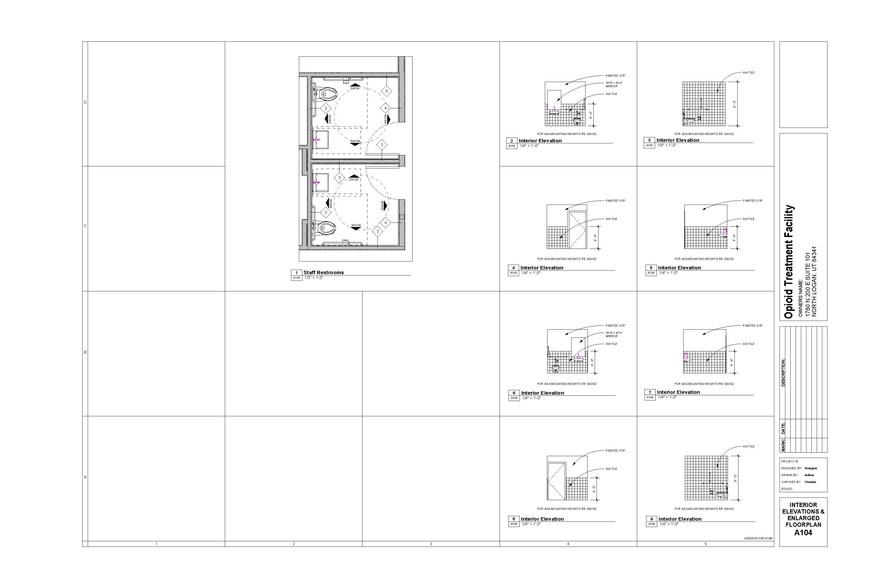 Interior Elevations - Staff Restrooms