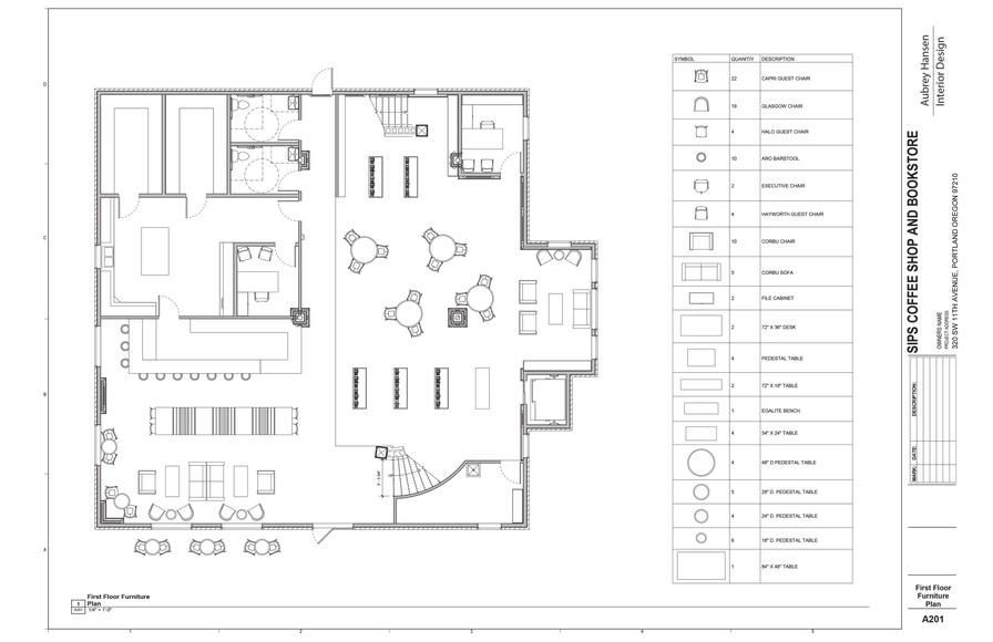 First Floor Furniture Plan