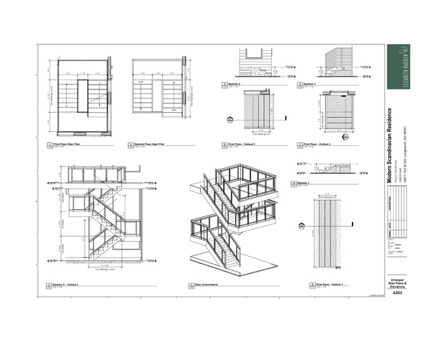 Enlarged Stair Plans & Elevations a