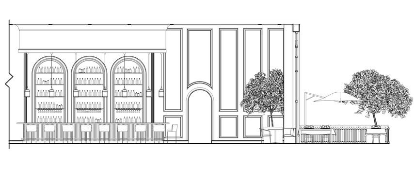 Interior Bar Elevation