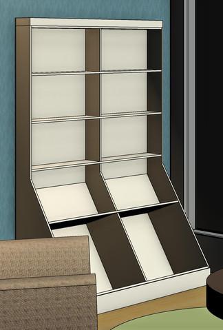 Bespoke Book Display Shelf