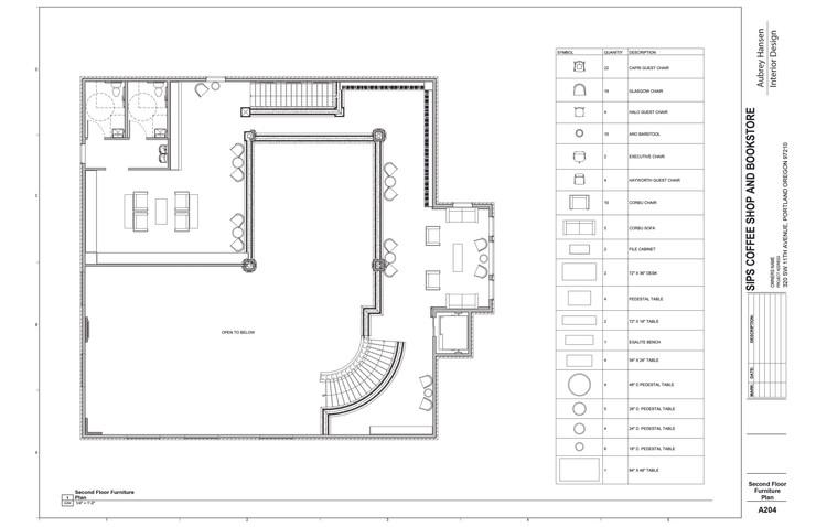 Second Floor Furniture Plan