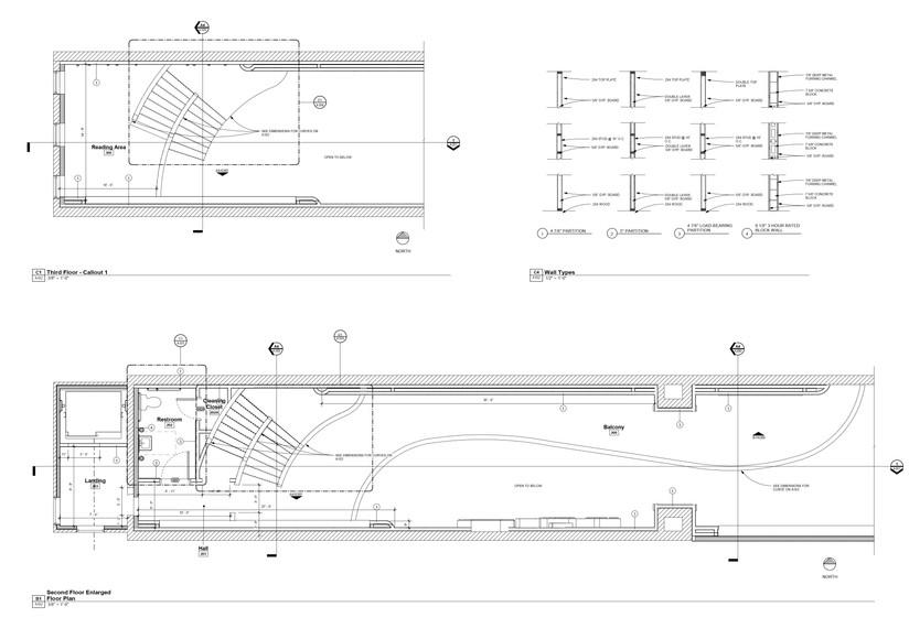 Plans - Enlarged Floor Plans - West Side