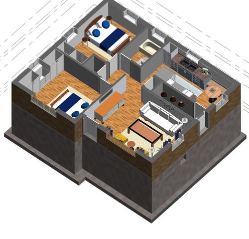 Main Level 3D Model