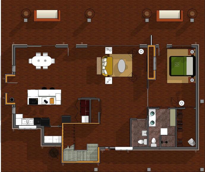 Main Level Furniture Plan