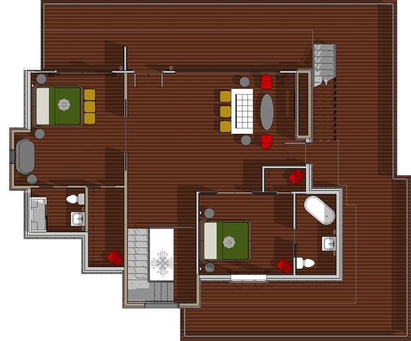 Second Level Furniture Plan