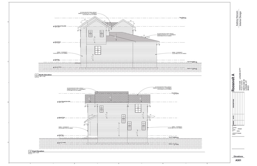 North and East Elevations