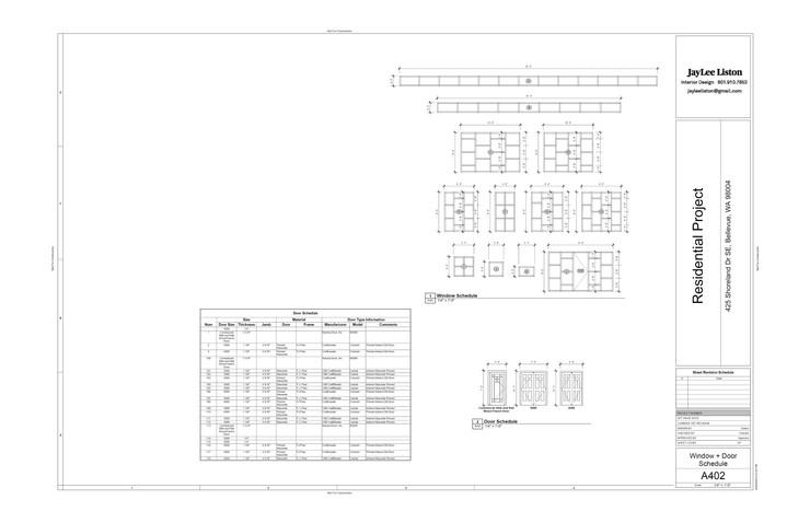 Window & Door Schedule