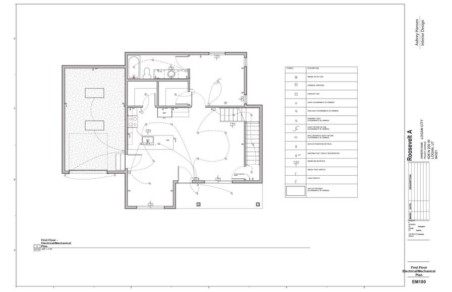 First Floor Electrical_Mechanical Plan