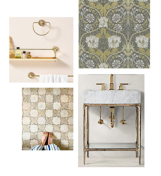 Powder Room - Furnishings + Finishes