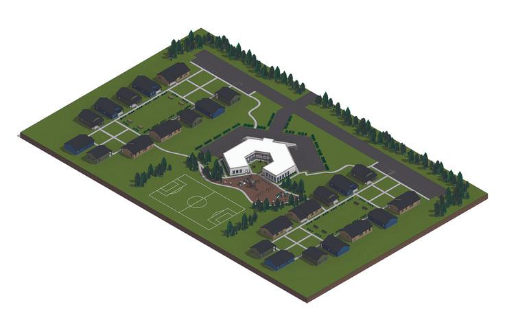 Site Plan Axon