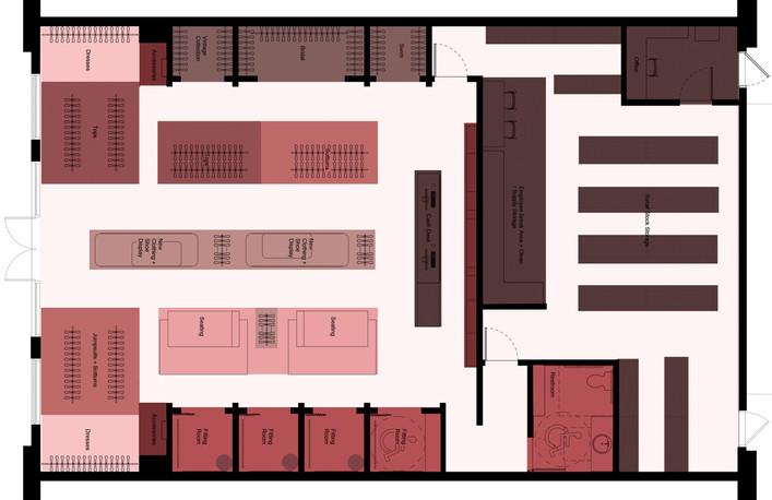 Zoned Floor Plan