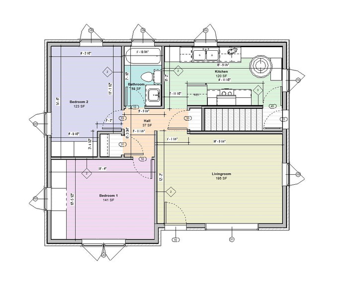 Main Level Floor Proposed Plan