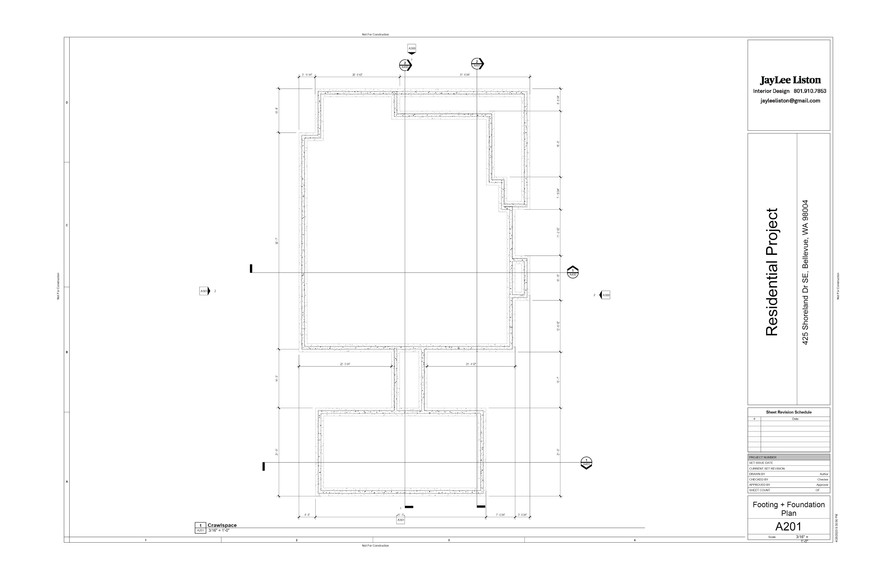 Footing + Foundation Plan