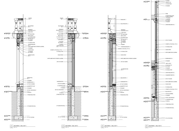 Exterior Wall Sections 6-9