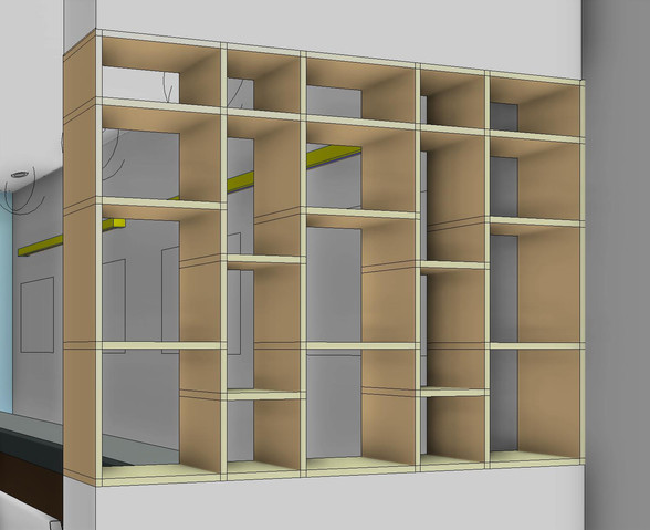 Bespoke Mid-Century Modern Shelves