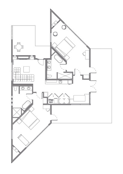 Tangled Up in Blue Floorplan