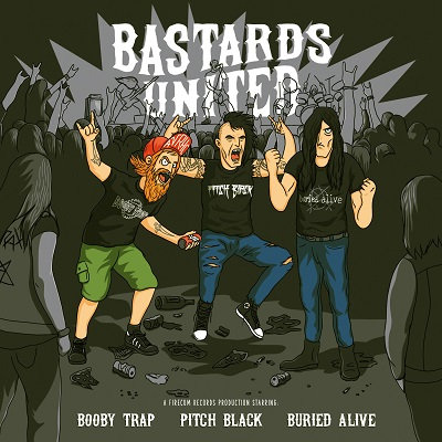 CUM 038 BOOBY TRAP & PITCH BLACK & BURIED ALIVE Bastards United CD Digipak
