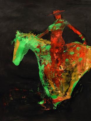 ELECTRIC HORSEWOMAN GREEN PLAYTEX