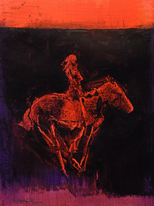 ELECTRIC HORSEWOMAN - ROTHKO