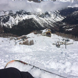 Snowboarding in Argentiere, France