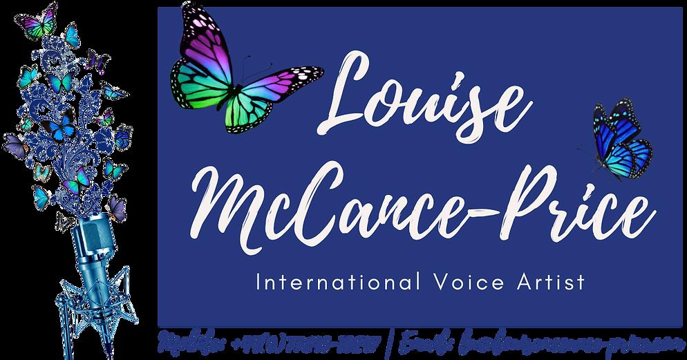 International Voice Artist Louise McCance-Price Welcome