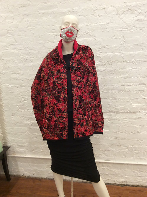 The Floral Abstract Shawl