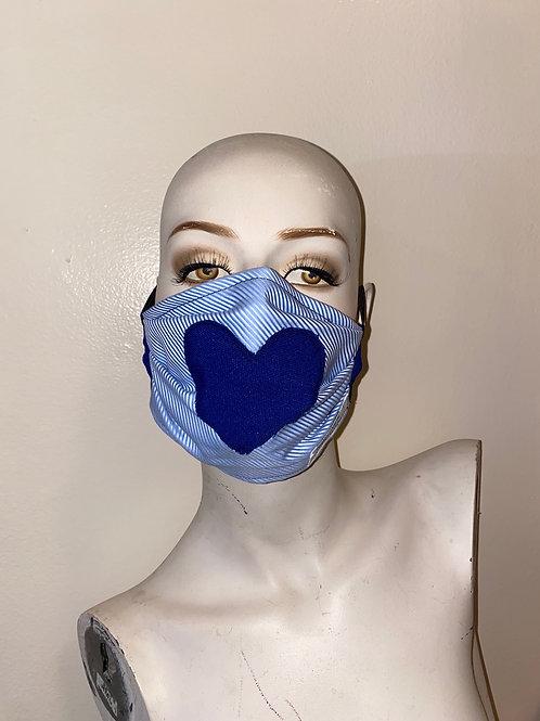 Blue Heart Mask