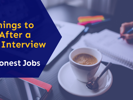 3 Things to Do after an Interview