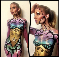 body painting by Jasmine