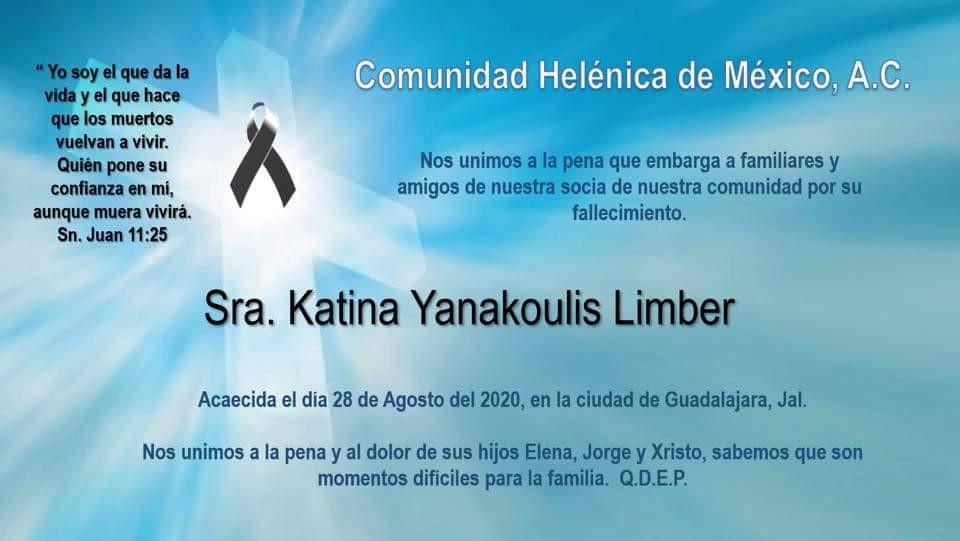 Sra. Katina Yanakoulis Limber