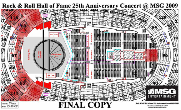 Rock & Roll Hall of Fame 25th Anniversary Concert - Madison Square Garden, New York City