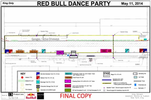 Red Bull Dance Party - King Street, New York City