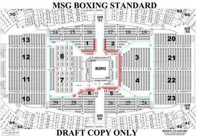 Boxing Standard - Madison Square Garden