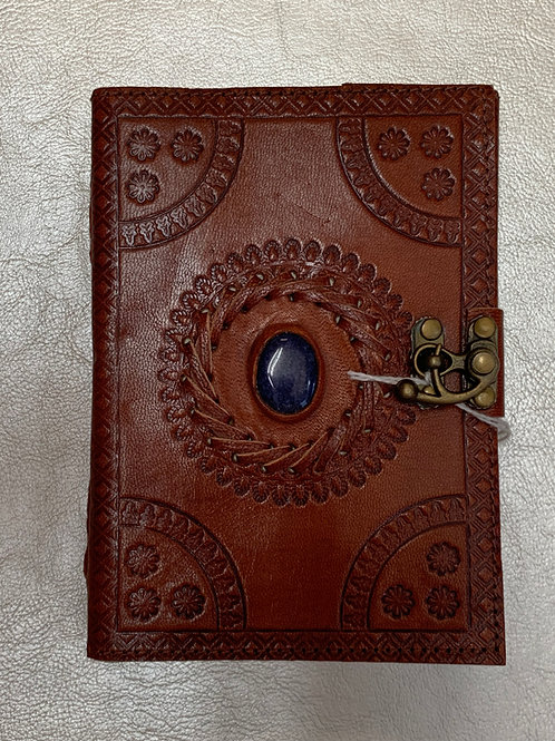 Stone Inset Leather Journal
