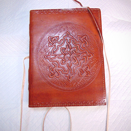 Celtic Knot Leather Journal
