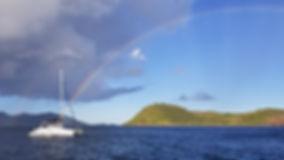 Croisière aux Antilles, Croisière aux Saintes, barrière de corail, Club de croisière, faire de la voile, apprendre la voile, croisière à la voile, croisière en catamaran, Transatlantique, transat, traversée de l'Atlantique, arc en ciel, arc-en-ciel