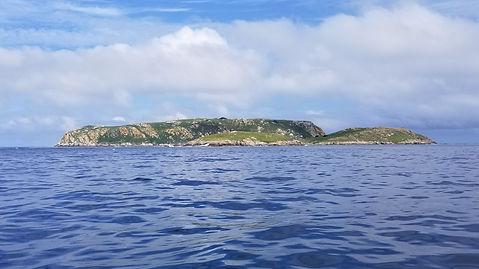 Islas Sisargas, Iles Sisargas, club de croisière, Galice, faire de la voile, apprendre la voile, croisière à la voile, croisière en catamaran