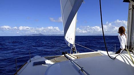 Croisière aux Grenadines, barrière de corail, Club de croisière, faire de la voile, apprendre la voile, croisière à la voile, croisière en catamaran, Transatlantique, transat, traversée de l'Atlantique, Sainte-Lucie