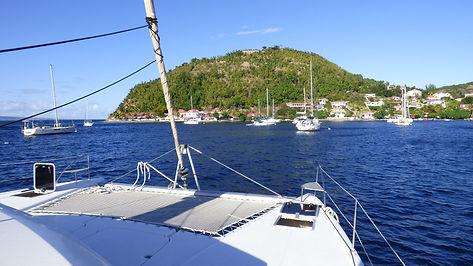 Croisière aux Antilles, Croisière aux Saintes, barrière de corail, Club de croisière, faire de la voile, apprendre la voile, croisière à la voile, croisière en catamaran, Transatlantique, transat, traversée de l'Atlantique, trampoline de catamaran