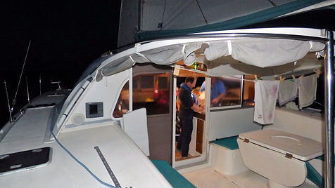 Grand large, Club de croisière, faire de la voile, apprendre la voile, croisière à la voile, croisière en catamaran, Transatlantique, transat, traversée de l'Atlantique, vie à bord, navigation de nuit