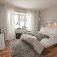 Chambre douce et texturée