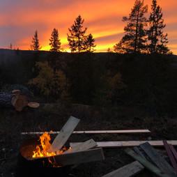 Solnedgang sett fra hytta