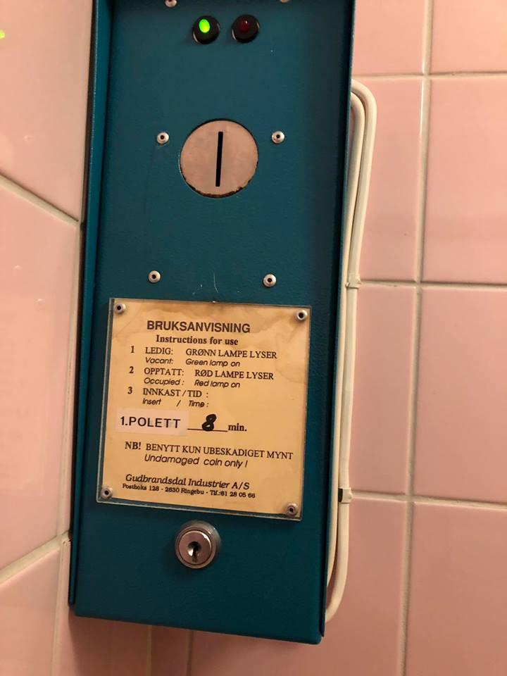 automat for dusjpolett