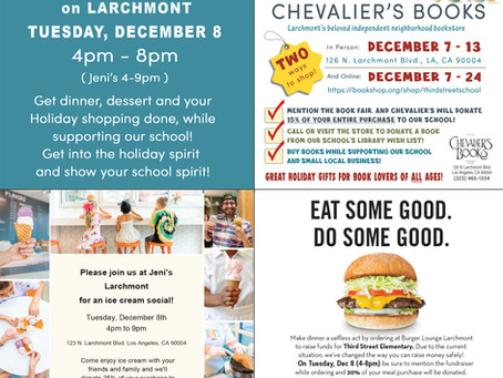 Book Fair + Family Dining Night - December 8th