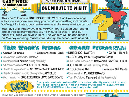 SHINE ONLINE! Week 4: One Minute to Win It!