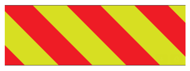 """ORAFOL V98-15""""x50yds Red/Lime Right Prismatic Sheeting"""