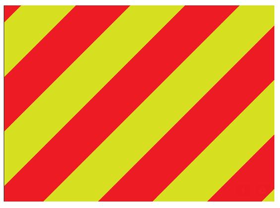 """ORAFOL V98-30""""x50yds Red/Lime Left Prismatic Sheeting"""