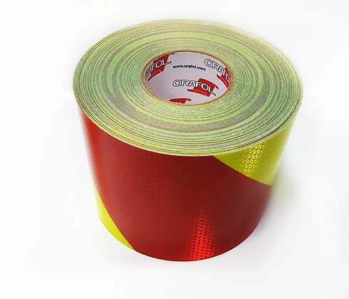 """ORAFOL V98-6""""x50yds Red/Lime Right Conspicuity Material"""