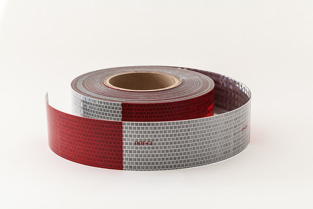 "AVERY DOT CONSPICUITY TAPE  V-5720-10  2""x50yds 11x7 RED/WHITE (10 year)"